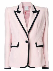 Ingie Paris contrast trimmed blazer - Pink