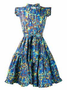 La Doublej printed ruffle dress - Blue