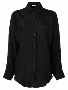 Nina Ricci plain button shirt - Black