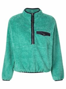 Anine Bing fur henley sweatshirt - Green