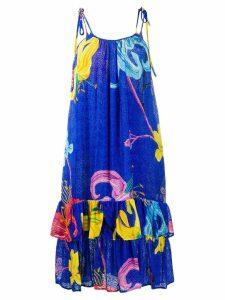 La Doublej floral print strap dress - Blue