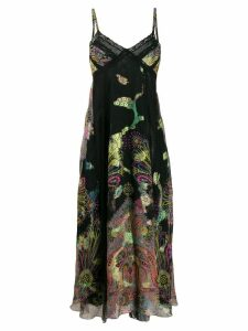 Etro paisley print maxi dress - Black