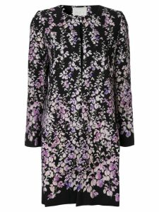 Ingie Paris floral print coat - Black