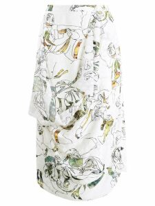 Chalayan embroidered skirt - White