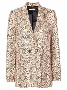 Anine Bing snakeskin effect blazer - Brown