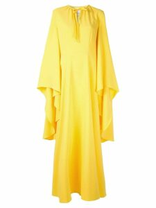 Ingie Paris draped sleeve gown - Yellow