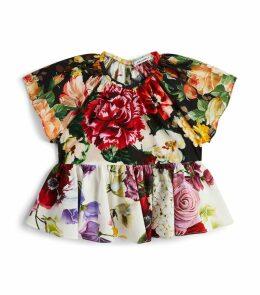 Peplum Floral Blouse