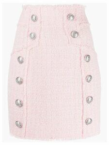 Balmain tweed pencil skirt - Pink