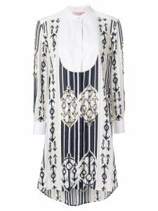 Tory Burch anchor print shirt dress - White