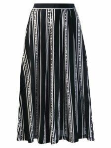 Être Cécile striped midi skirt - Black