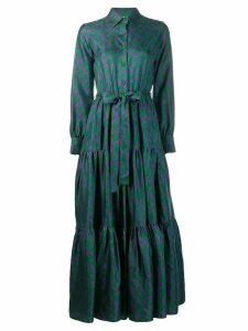 La Doublej abstract print shirt dress - Green