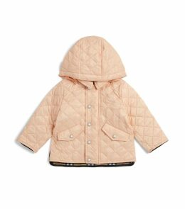 Quilted Check Hood Coat