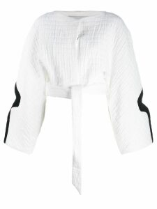 Chalayan croped top - White