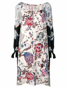 Tory Burch floral printing dress - White