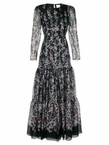 Ingie Paris floral print gown - Black