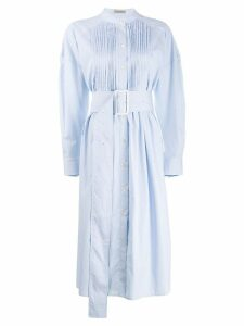 Bottega Veneta striped flared shirt dress - Blue