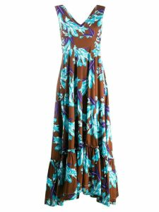 P.A.R.O.S.H. floral print maxi dress - Brown