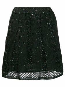 M Missoni glitter sequin knitted skirt - Black