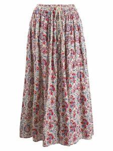 Antik Batik floral print skirt - Neutrals