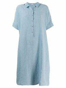 Apuntob relaxed fit shirt dress - Blue