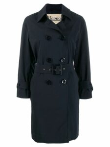 Herno double-breasted trench coat - Blue