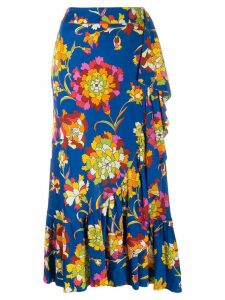 La Doublej x Mantero wrap skirt - Blue