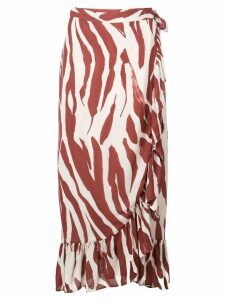 ANINE BING Lucky wrap skirt - Red