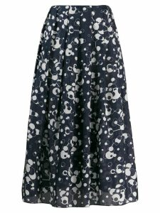 Katharine Hamnett London printed pleated midi skirt - Blue