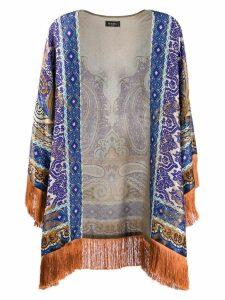 Etro paisley printed kimono - Blue
