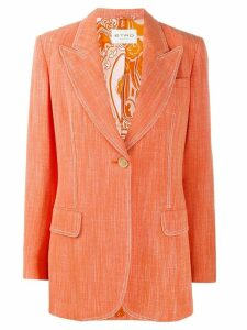 Etro stitch detail blazer - Orange