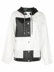 Proenza Schouler PSWL Colorblocked Short Raincoat - White