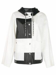 Proenza Schouler PSWL Colorblocked Short Raincoat - White
