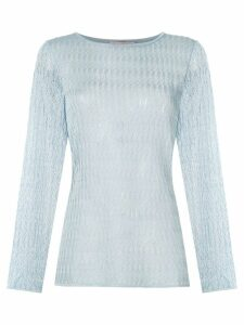 Cecilia Prado boat neck knitted top - Blue