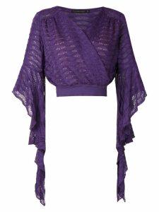 Cecilia Prado Gilda wrap style blouse - Purple