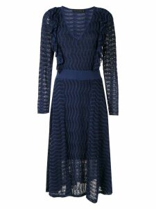 Cecilia Prado frill trim midi dress - Blue