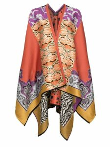 Etro jacquard knitted cape poncho - 0600