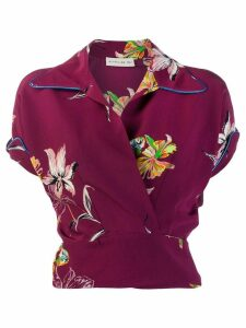 Etro floral fitted blouse - Red