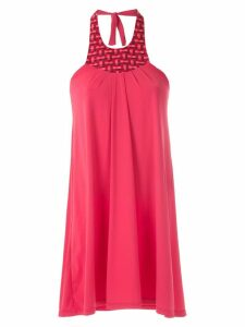 Amir Slama halter neck panel dress - Red