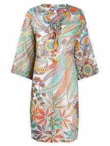 Blumarine printed beach dress - White