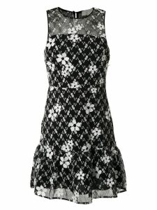 Michael Michael Kors floral embroidered mini dress - Black