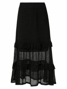 Cecilia Prado full midi knitted skirt - Black