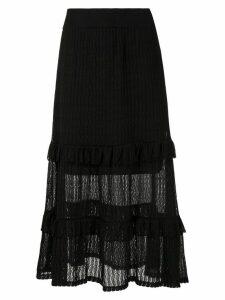 Cecilia Prado full midi knitted skirt - Black