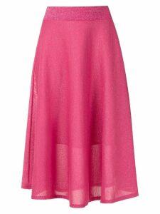 Cecilia Prado glitter midi drape skirt - Pink