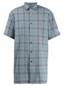 Youser check print shirt - Grey