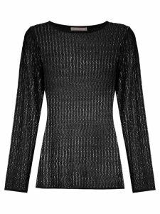 Cecilia Prado wave pattern knitted top - Black