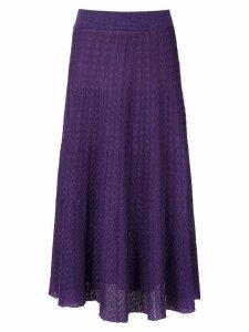 Cecilia Prado drape style midi skirt - Purple