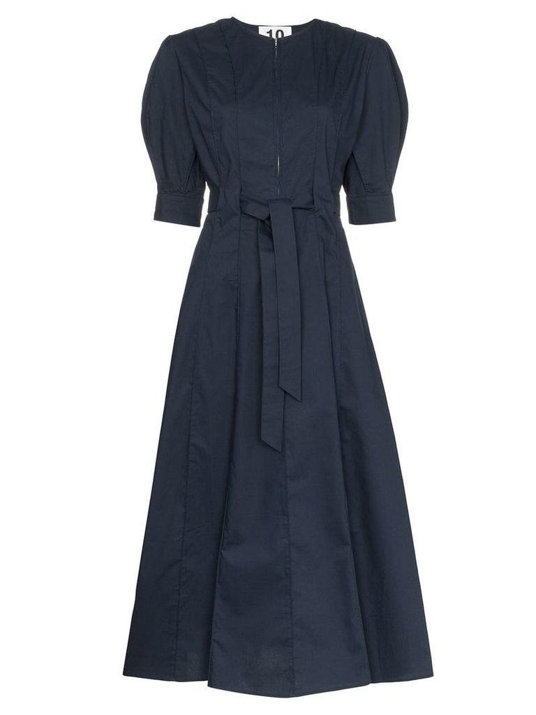 Ten Pieces x Rude pouf sleeve mid dress - Blue