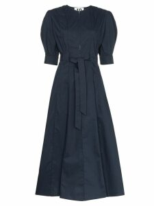 Ten Pieces x Rude pouf sleeve mid dress - Blue