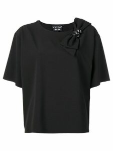 Boutique Moschino black bow T-shirt