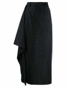 Youser stripe drape midi skirt - Blue